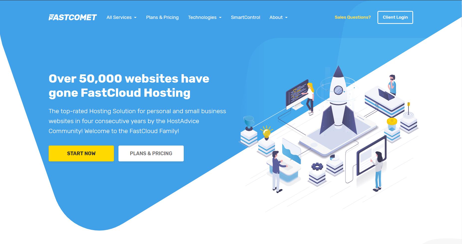 FastComet Review - Top Rated WebHostings